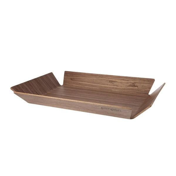 Taca drewniana Trayo 35x50 cm, brązowa