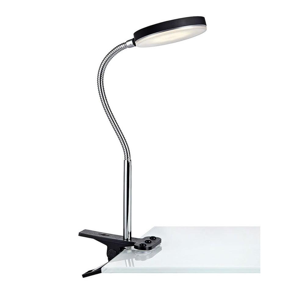 Czarna lampa stołowa LED z klipsem Markslöjd Flex