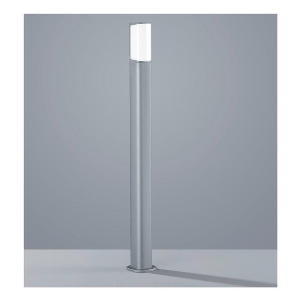 Jasnoszara zewnętrzna lampa stojąca Trio Ticino, wys.100 cm