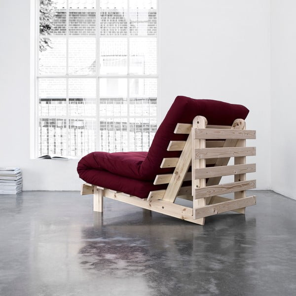 Fotel rozkładany Karup Roots Raw/Bordeaux