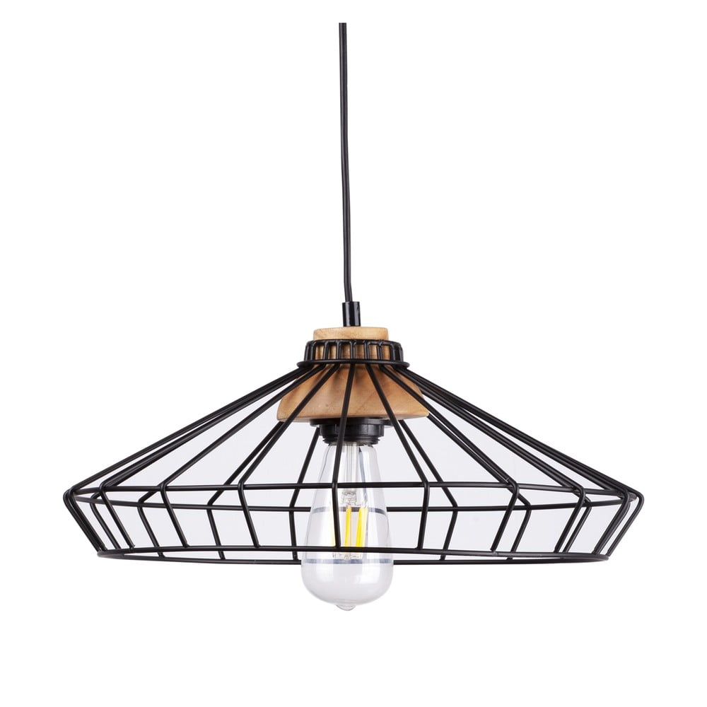 Czarna lampa wisząca sømcasa Culla, ø 16 cm