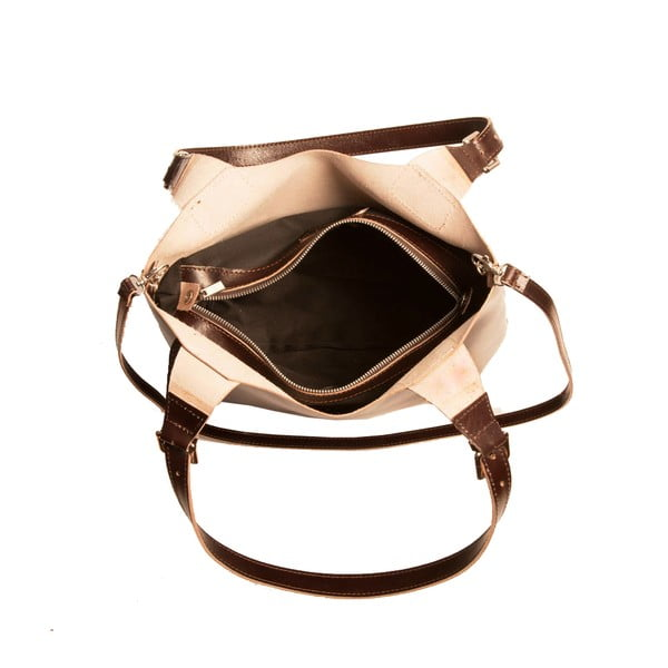 Ciemno-brązowa torebka skórzana Andrea Cardone Stefano