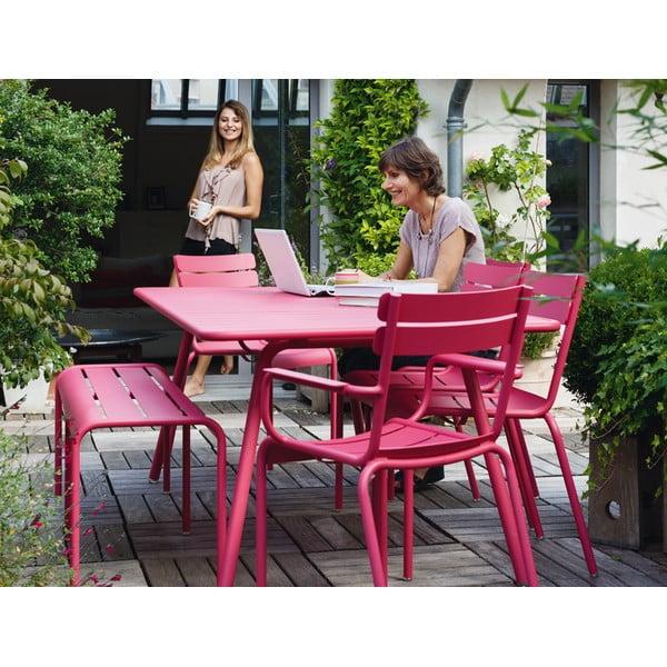 Zestaw 2 kremowych krzeseł z podłokietnikami Fermob Luxembourg