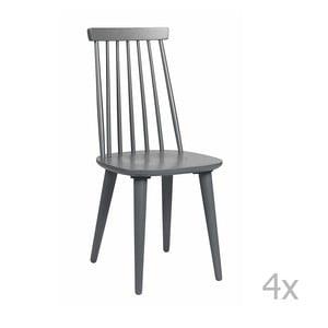 Zestaw 4 ciemnoszarych krzeseł Folke Lotta