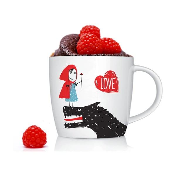 Porcelanowy kubek Little Red Love, 300 ml