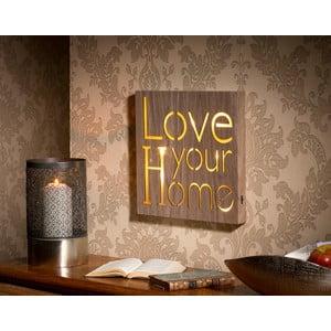 Obraz ze świecącym napisem Love Your Home, 30x30 cm