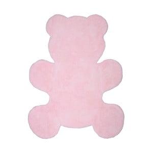 Różowy dywan dziecięcy Nattiot Little Teddy, 80 x 100 cm