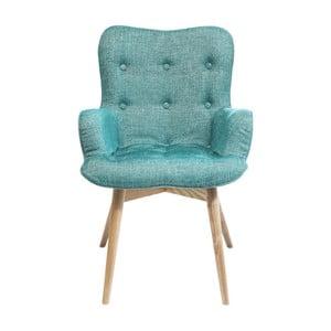 Zielone krzesło z podłokietnikami Kare Design Angel