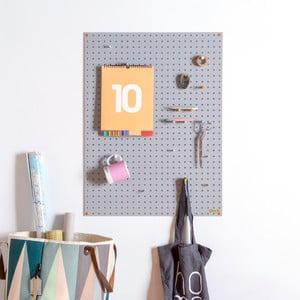 Wielofunkcyjna tablica Pegboard 61x81 cm, szara