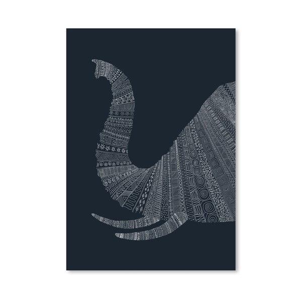 Plakat Elephant Blue, 30x42 cm