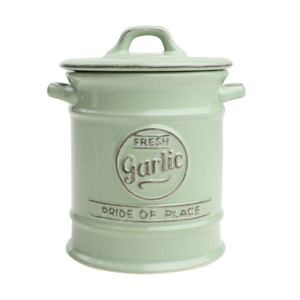 Zielony pojemnik porcelanowy na czosnek T&G Woodware Pride of Place