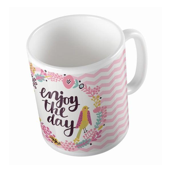 Ceramiczny kubek Enjoy The Day, 330 ml