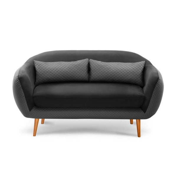Ciemnoszara sofa 3-osobowa Scandi by Stella Cadente Maison Meteore