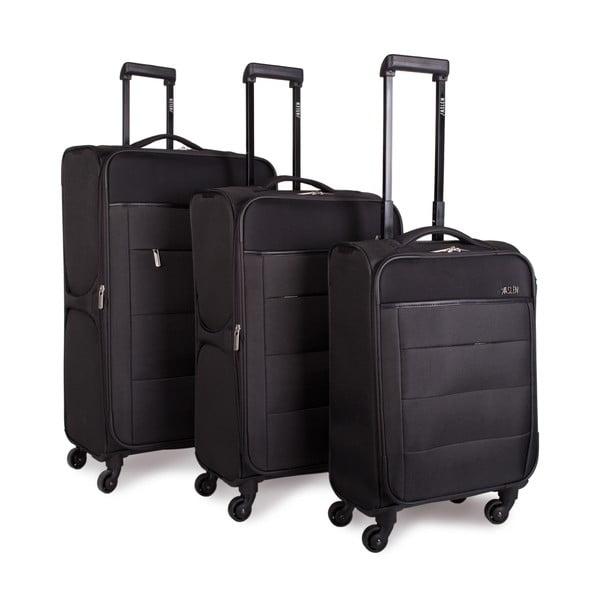 Zestaw 3 ciemnoszarych walizek Jaslen