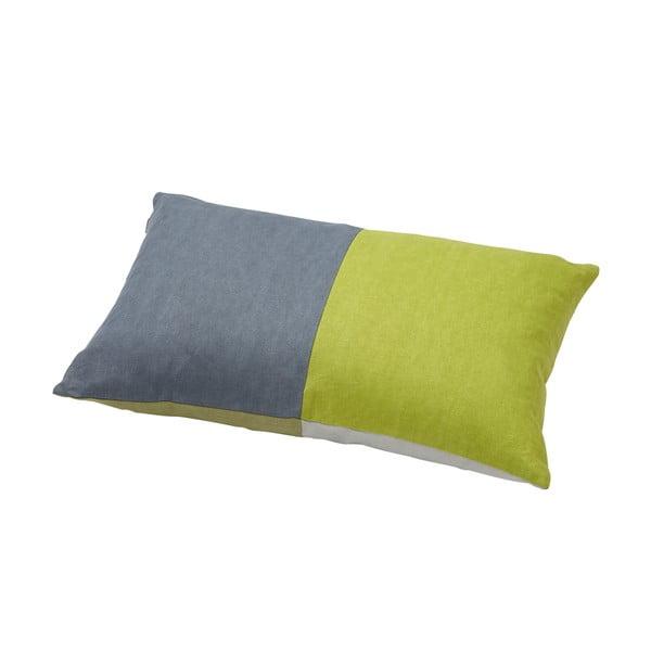 Poduszka z pierza kaczego Domino Grey/Green