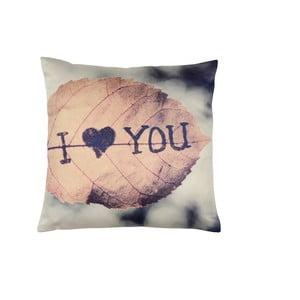 Różowo-szara poduszka Walra Jill, 45x45 cm