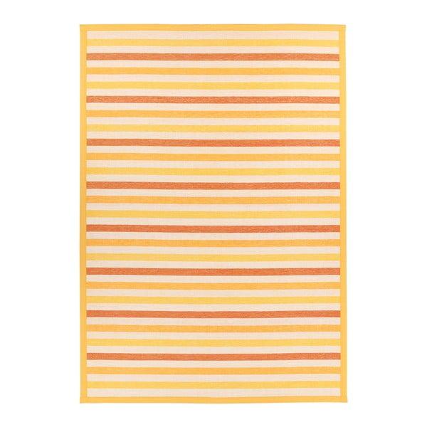 Żółty dywan dwustronny Narma Saara, 140x200 cm