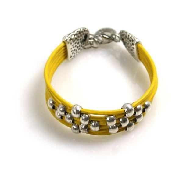 Bransoletka Pearls, żółta