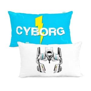 Dwustronna poszewka na poduszkę Cyborg, 50x30 cm