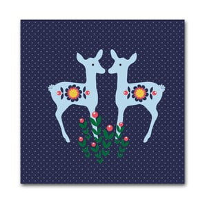 Plakat Niebieskie sarenki