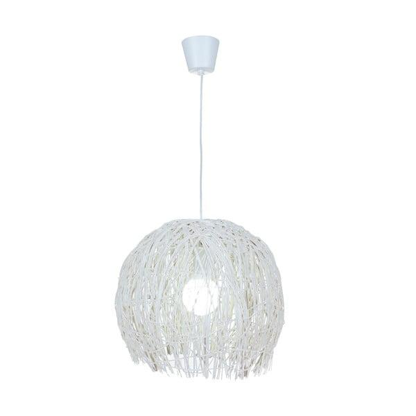Lampa wisząca Struwel, biała 28x30 cm