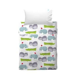 Poszewka na poduszkę i narzuta Mr. Fox Hippo, 120x180 cm