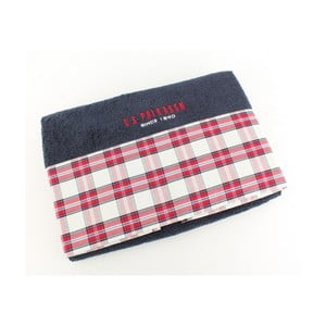 Ręcznik US Polo Bath Dark Blue Check, 75x150 cm