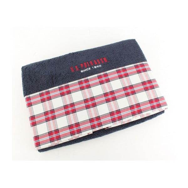 Ręcznik US Polo Bath Dark Blue Check, 75x150 cm