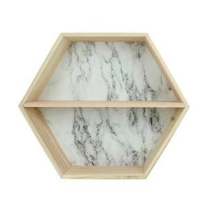 Półka drewniana z marmurowym wzorem HF Living
