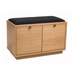 Naturalna ławka dębowa z 2 szufladami Folke Thor
