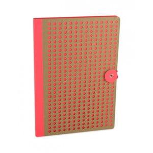 Pomarańczowy notatnik B5 Portico Designs Laser