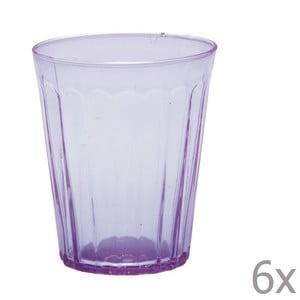 Zestaw 6 szklanek na wodę Lucca Lila, 450 ml