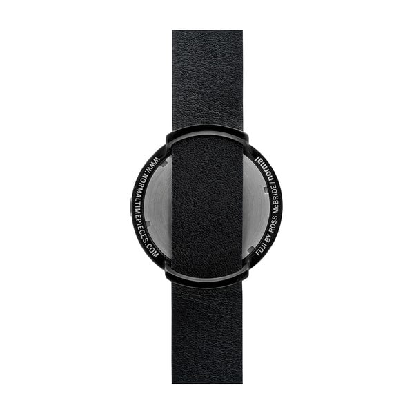 Zegarek Grey Fuji Black Leather, 43 mm
