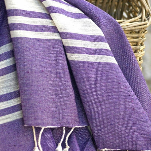 Ręcznik hamam Sea Purple, 100x180 cm
