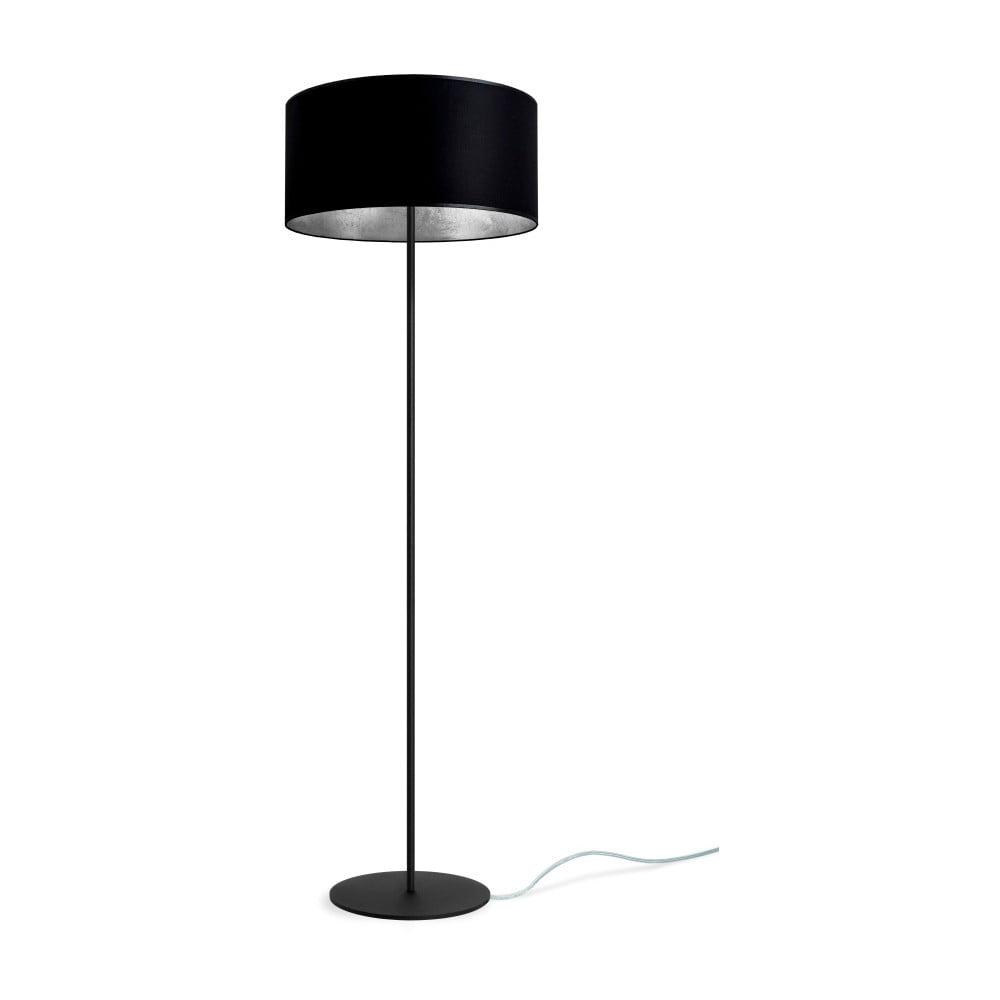 Czarno-srebrna lampa stojąca Sotto Luce Mika, Ø40 cm