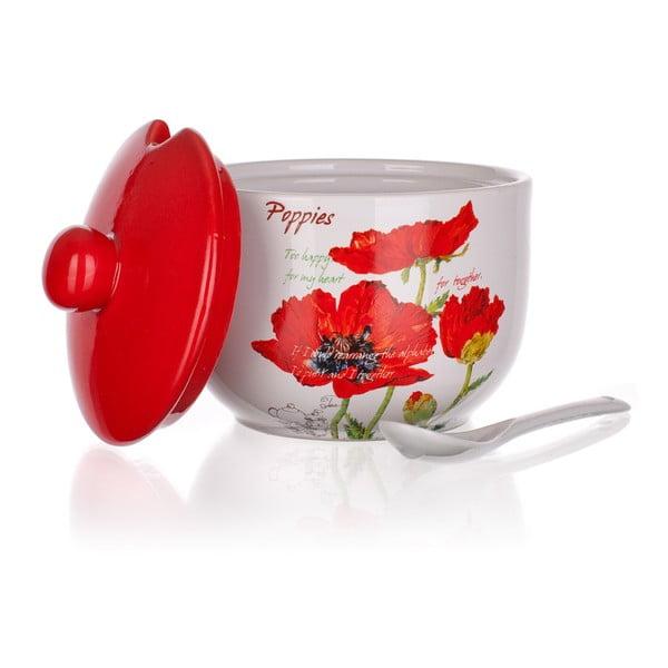 Cukierniczka z łyżeczką Banquet Red Poppy