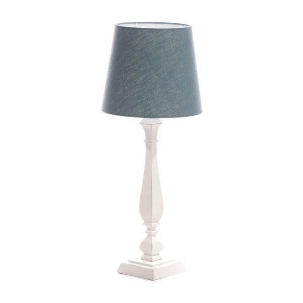 Niebieska lampa stołowa Tower, biała lakierowana brzoza, Ø 24 cm