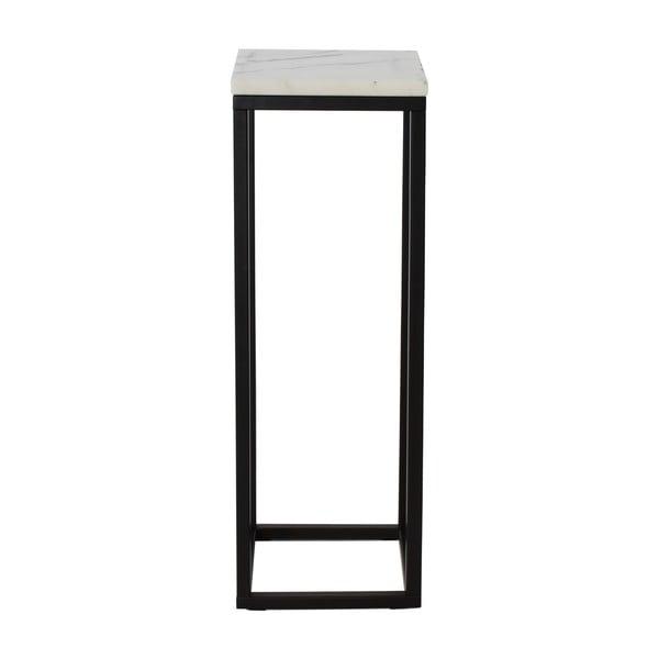 Marmurowy postument z czarną konstukcją RGE Accent, wysokość80cm