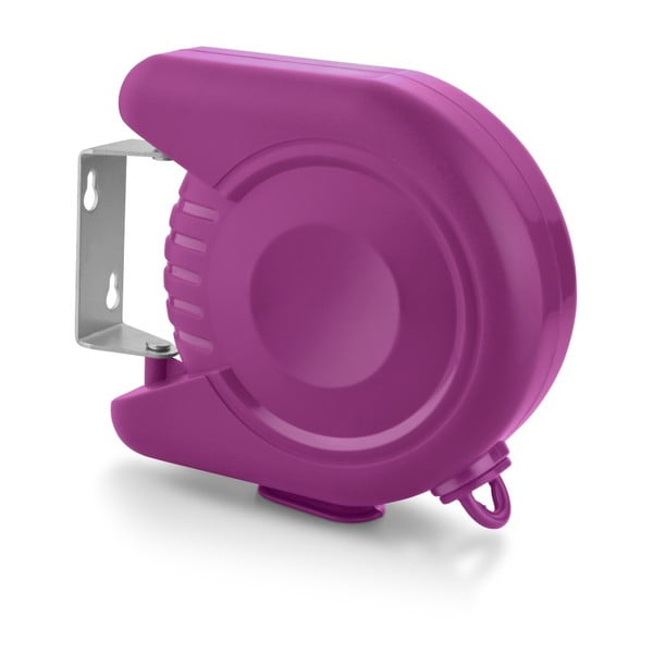 Zestaw: sznur na pranie i spinacze Bonita Flora Purple, 24 sztuki
