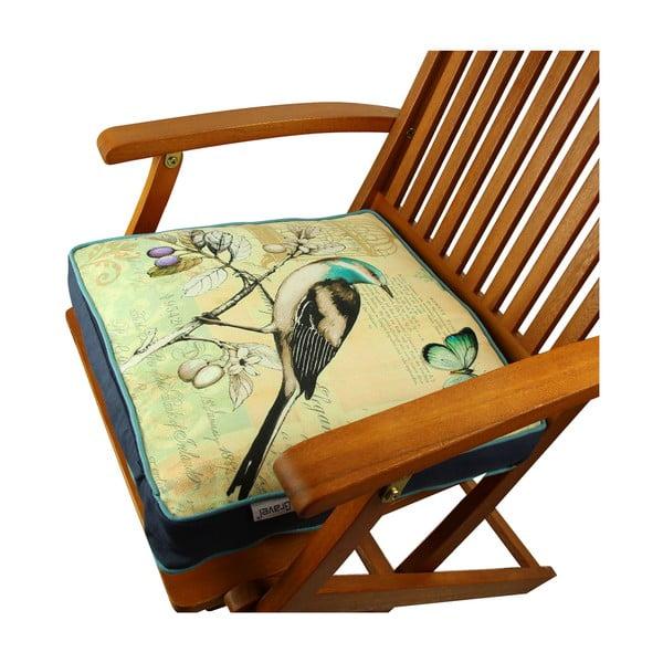 Poduszka na krzesło z wypełnieniem Gravel Bird, 42x42cm