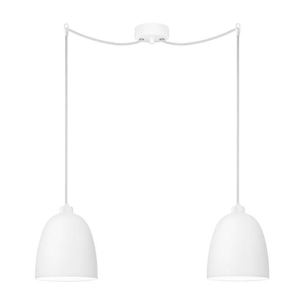 Biała podwójna lampa wisząca Sotto Luce Awa
