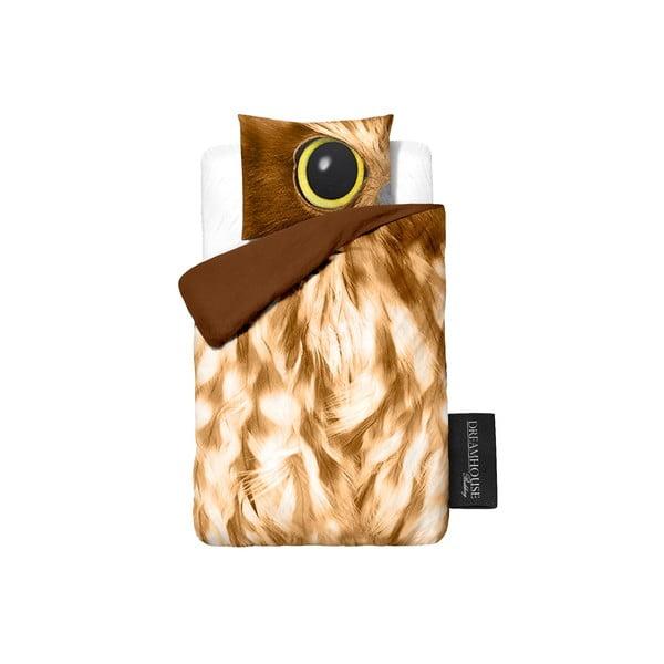Pościel Owl Look Taupe, 140x200 cm