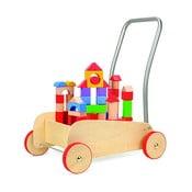 Wózek z drewnianymi klockami Legler Walker