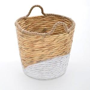 Wiklinowy kosz Beige/White, 30x25 cm