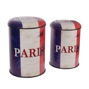 Zestaw 2 metalowych pudełek InArt Paris