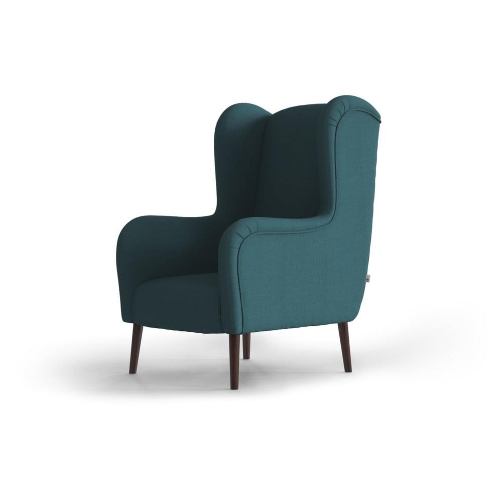 Turkusowy fotel uszak My Pop Design Muette