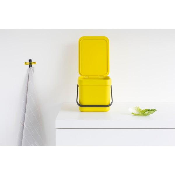 Kosz Sort & Go 6 l, żółty