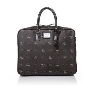 Skórzana torebka do ręki Canguru Louis, czarna