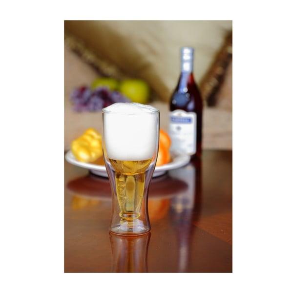 Szklanka do piwa z podwójną ścianką Vialli Design, 350 ml