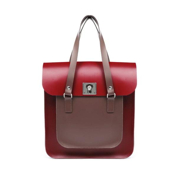 Skórzana torebka Rosemont Red/Chestnut XL